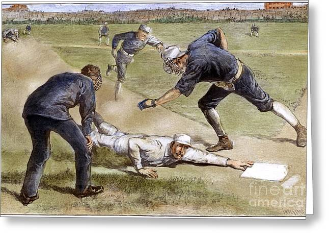 BASEBALL GAME, 1885 Greeting Card by Granger