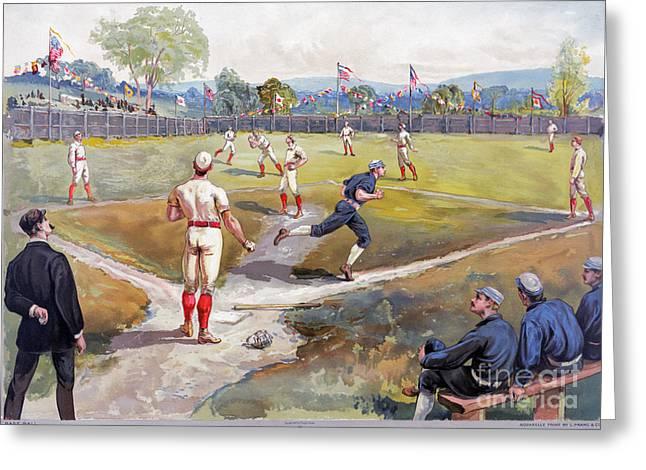 Baseball Game, C1887 Greeting Card by Granger