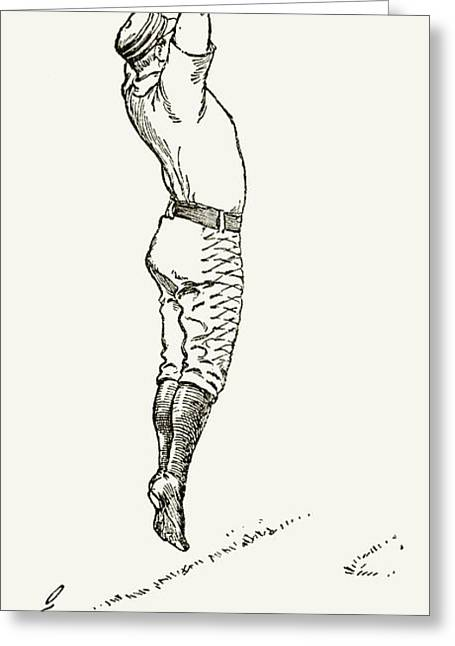 Player Greeting Cards - Baseball Player, 1889 Greeting Card by Granger