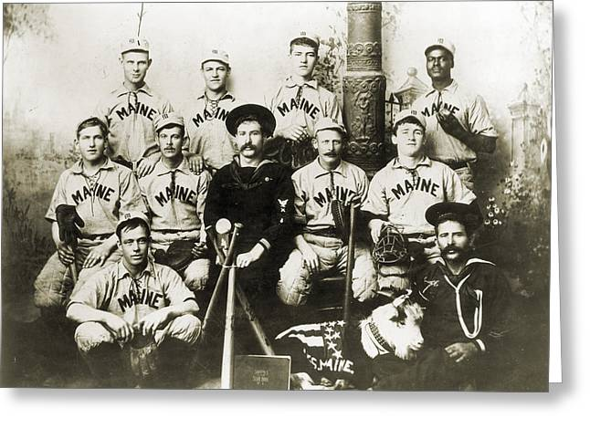 BASEBALL TEAM, c1898 Greeting Card by Granger