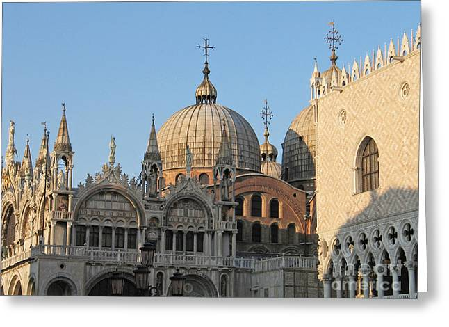 Byzantine Greeting Cards - Basilica San Marco Greeting Card by Bernard Jaubert
