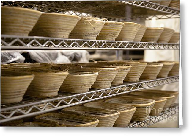 Baskets at a Bakery Greeting Card by Inti St. Clair