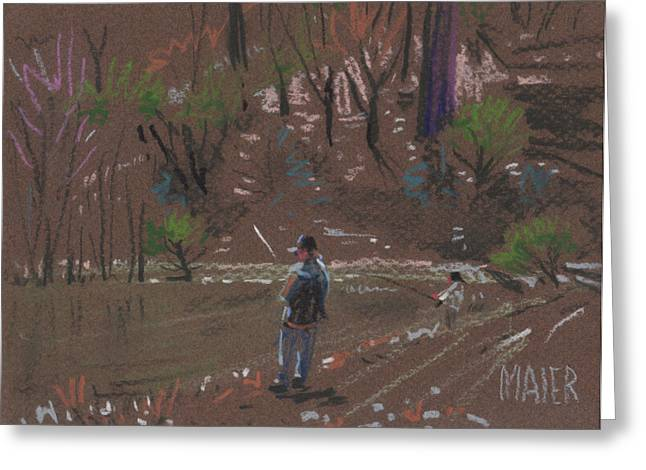 Bass Fishing Greeting Card by Donald Maier