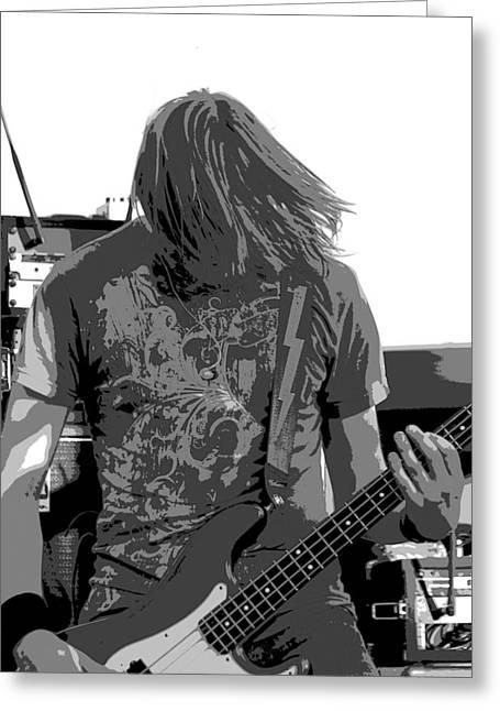 Bass Guitar Greeting Card by James Hammen