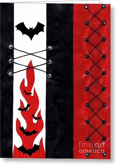 Underground Art Greeting Cards - Bat Outa Hell Greeting Card by Roseanne Jones