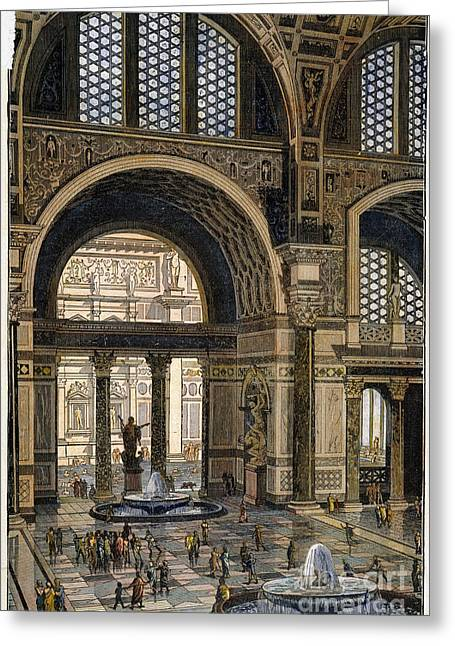 Caracalla Greeting Cards - Baths Of Caracalla, Rome Greeting Card by Granger