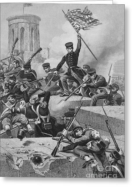 U.s Army Greeting Cards - Battle Of Chapultepec, 1847 Greeting Card by Granger