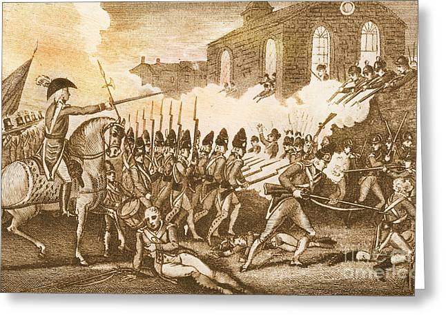 Concord. Historic Greeting Cards - Battle Of Concord, 1775 Greeting Card by Photo Researchers