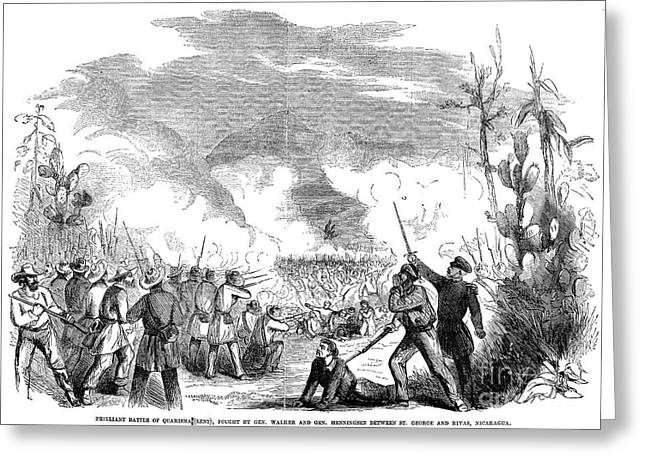 Henningsen Greeting Cards - Battle Of Quarisma, 1857 Greeting Card by Granger