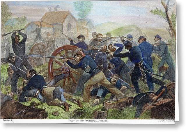 Bayonet Greeting Cards - Battle Of Shiloh, 1862 Greeting Card by Granger