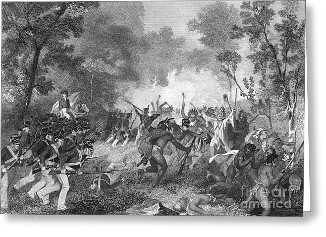 1811 Greeting Cards - Battle Of Tippecanoe, 1811 Greeting Card by Granger