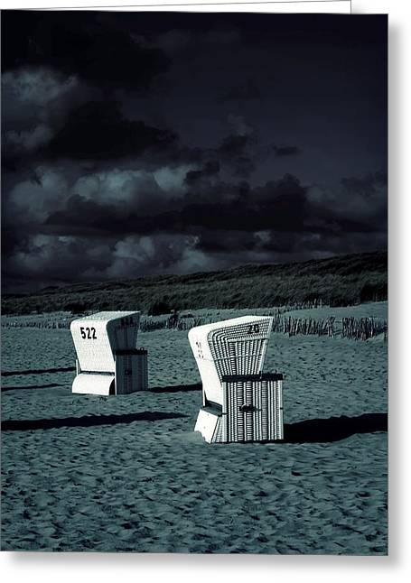 German Ocean Greeting Cards - Beach Chairs Greeting Card by Joana Kruse