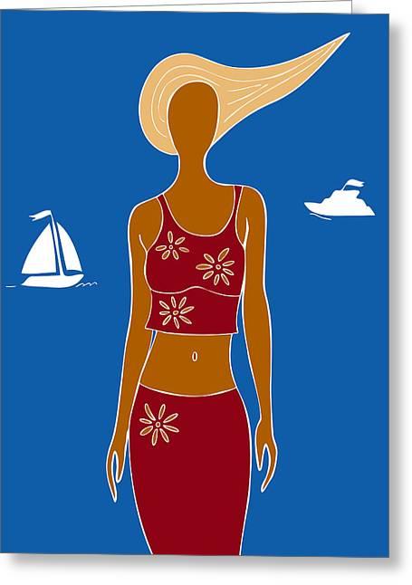 Beach Days Greeting Card by Frank Tschakert