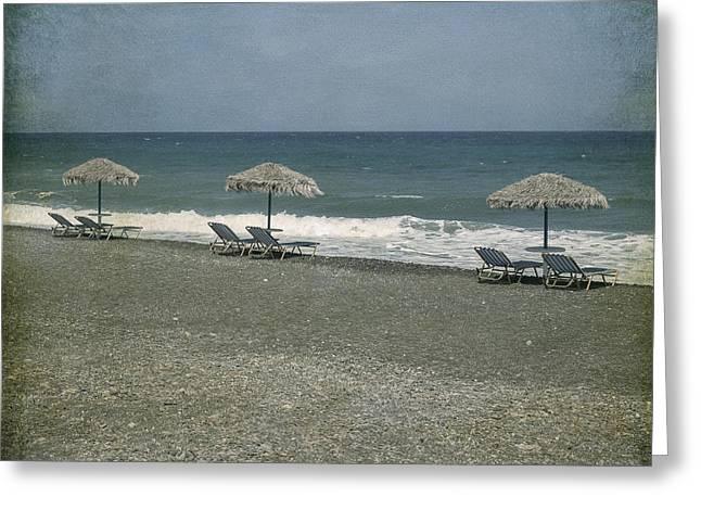 Deckchair Greeting Cards - Beach Greeting Card by Joana Kruse