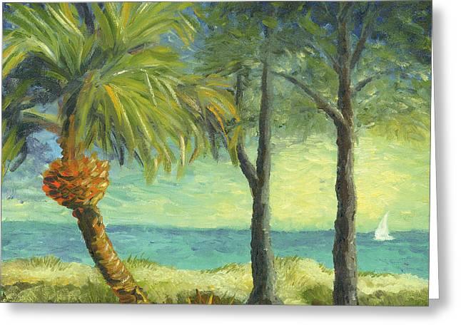Beach Path Greeting Card by Tammy Olson