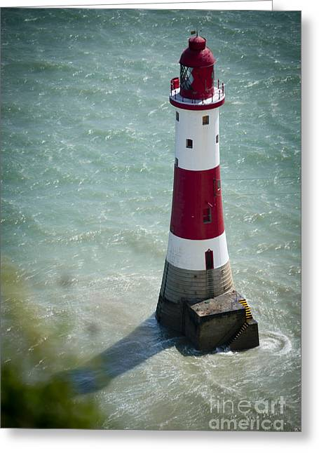 Best Sellers -  - White Jewelry Greeting Cards - Beachy Head Lighthouse. Greeting Card by Donald Davis