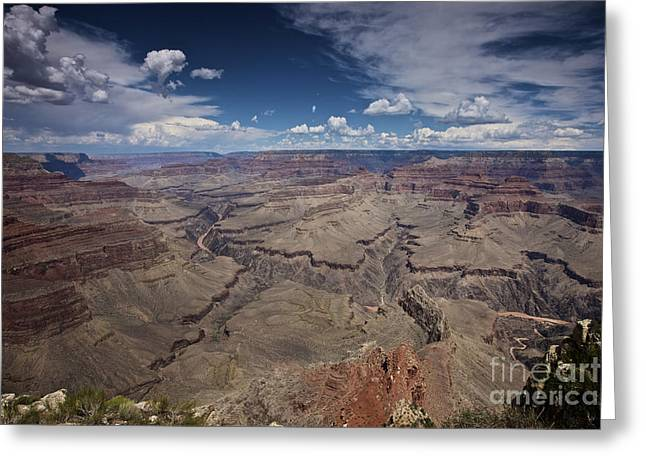 Beautiful Vista Of Grand Canyon Greeting Card by Terry Moore