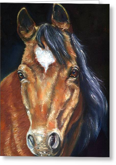 Pony Greeting Cards - Beauty Greeting Card by Lyn Cook
