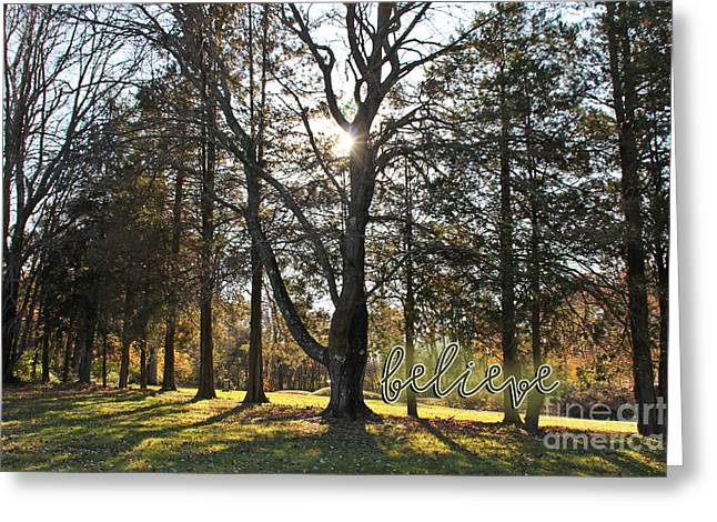 Peaceful Images Greeting Cards - Believe Greeting Card by Extrospection Art