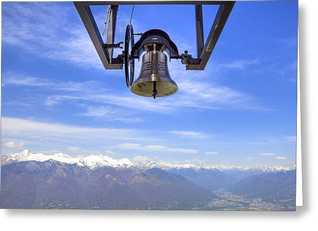 Chimes Greeting Cards - Bell In Heaven Greeting Card by Joana Kruse