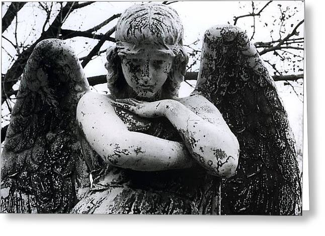 Sorrow Greeting Cards - Bellefontaine Angel Greeting Card by Jane Linders