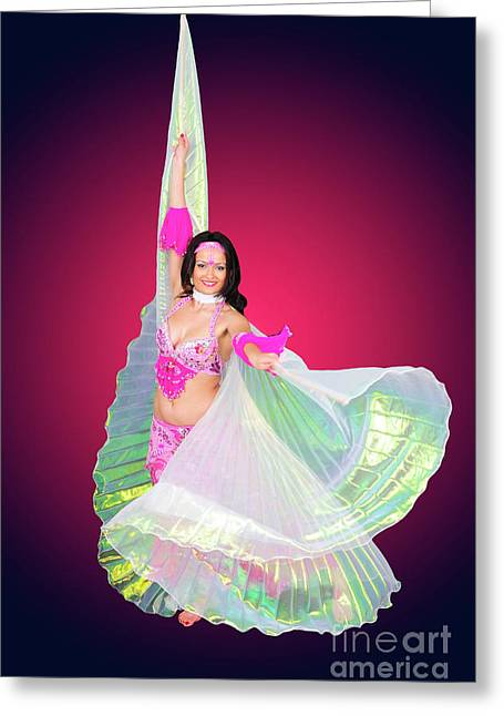 Knockout Greeting Cards - Belly dancer  Greeting Card by Ilan Rosen