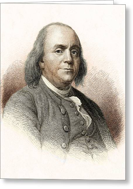 Spokesman Greeting Cards - Benjamin Franklin Greeting Card by Nypl