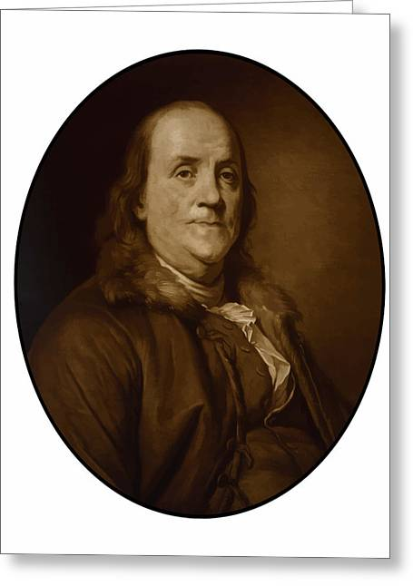 American Revolution Greeting Cards - Benjamin Franklin Greeting Card by War Is Hell Store