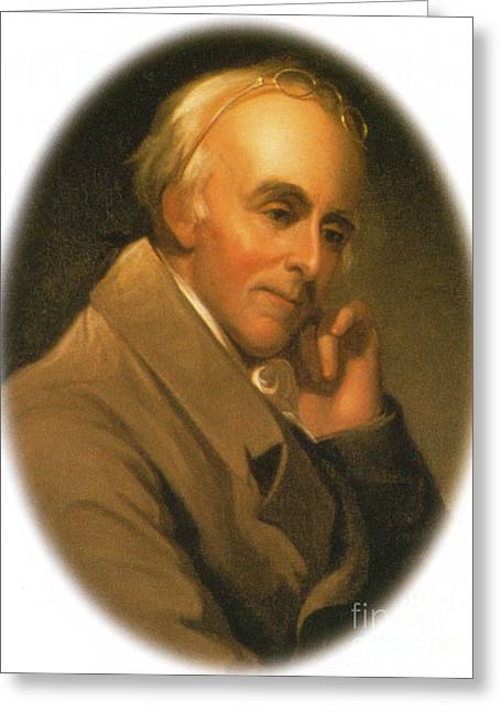 U S Founding Father Greeting Cards - Benjamin Rush Greeting Card by Science Source