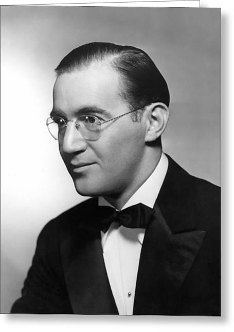 Tuxedo Greeting Cards - Benny Goodman (1909-1986) Greeting Card by Granger