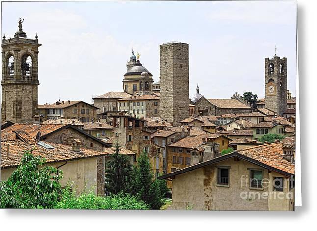 Bergamo Alta Greeting Card by Gualtiero Boffi