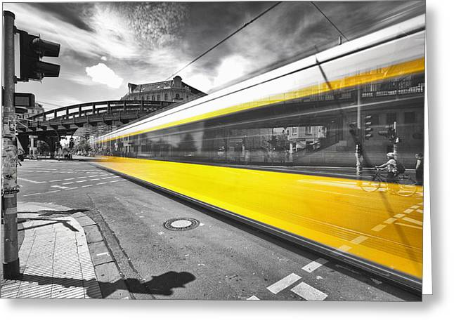 Colorkey Digital Greeting Cards - Berlin Colorkey Greeting Card by Marcus Klepper