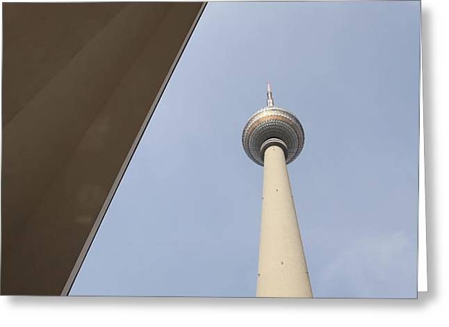 Berlin TV tower Greeting Card by Falko Follert