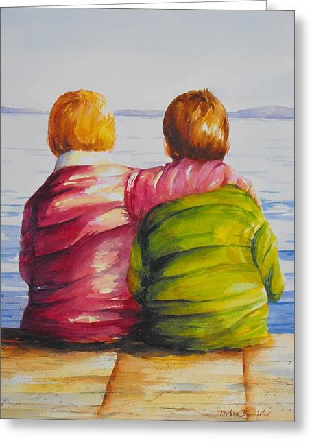 Bannister Paintings Greeting Cards - Best Friends Greeting Card by Debra  Bannister