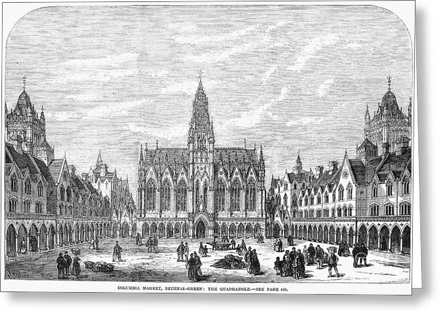 Bethnal Green Market, 1869 Greeting Card by Granger