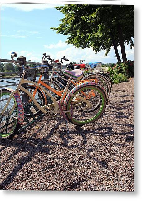 Helsinki Finland Greeting Cards - Bicycles Greeting Card by Sophie Vigneault