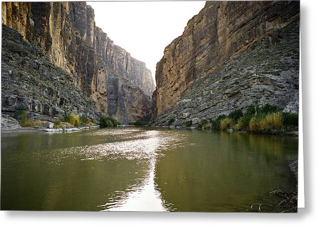 Canvas Wrap Greeting Cards - Big Bend Rio Grand River Greeting Card by M K  Miller