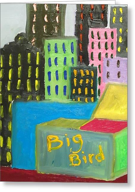 Big Bird Greeting Card by Forrest Kelley