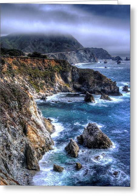 Recently Sold -  - Ocean Vista Greeting Cards - Big Sur Greeting Card by Anthony Citro
