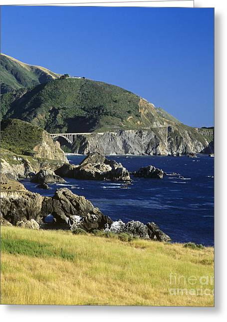 Vista Of Big Sur Greeting Cards - Big-sur-t1-3 Greeting Card by Craig Lovell