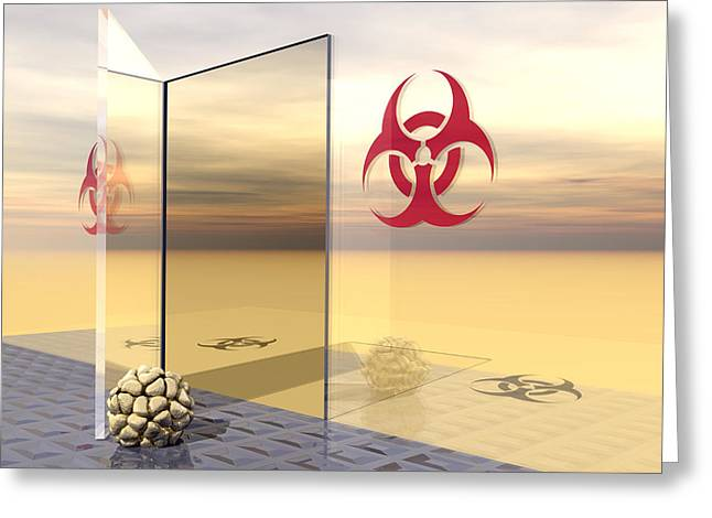 Toxicology Greeting Cards - Biohazard Greeting Card by Laguna Design
