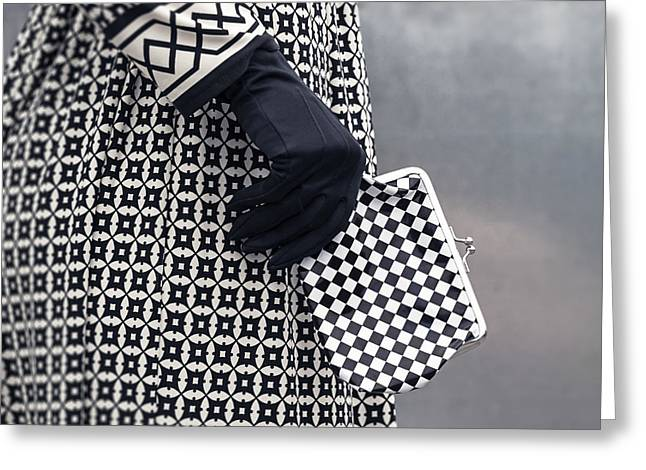 Glove Greeting Cards - Black And White Greeting Card by Joana Kruse