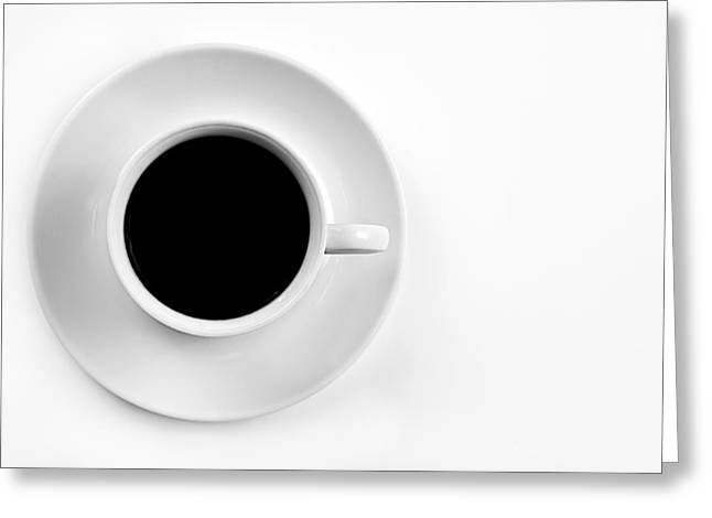 Wake Greeting Cards - Black Coffee Greeting Card by Gert Lavsen