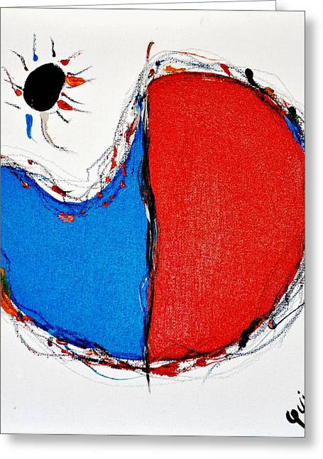 Picaso Greeting Cards - Black Sun Greeting Card by Patricia  Quinche