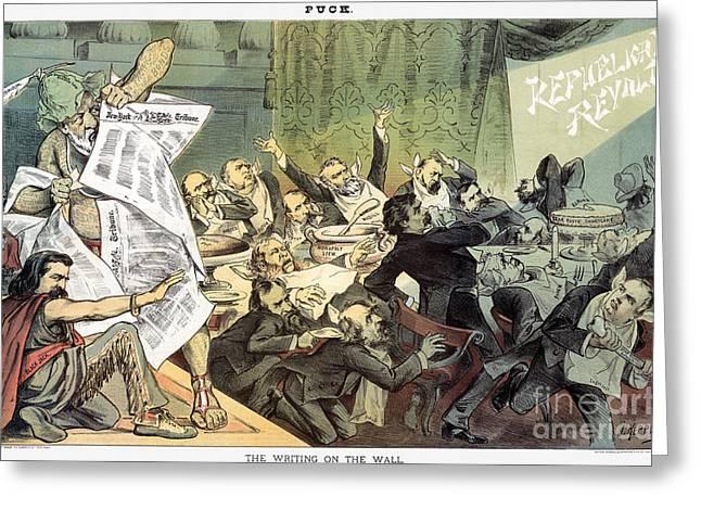 Belshazzar Greeting Cards - Blaine Cartoon, 1884 Greeting Card by Granger