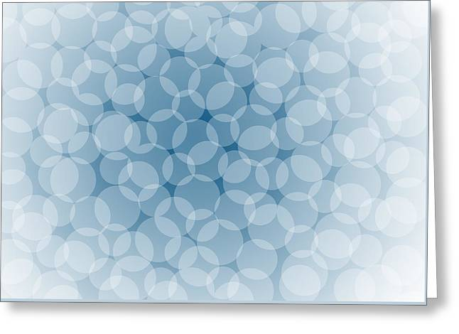 Color Transparency Greeting Cards - Blue Abstract Greeting Card by Frank Tschakert
