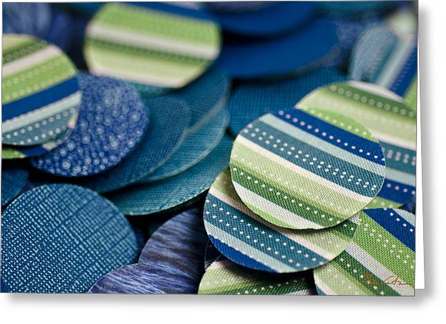 Quirky Greeting Cards - Blue chip Greeting Card by Michael Cantor