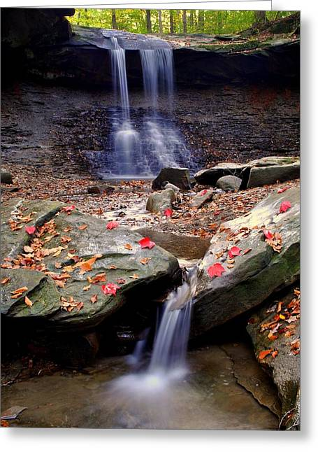 Family Picnic Greeting Cards - Blue Hen Falls Greeting Card by Frozen in Time Fine Art Photography