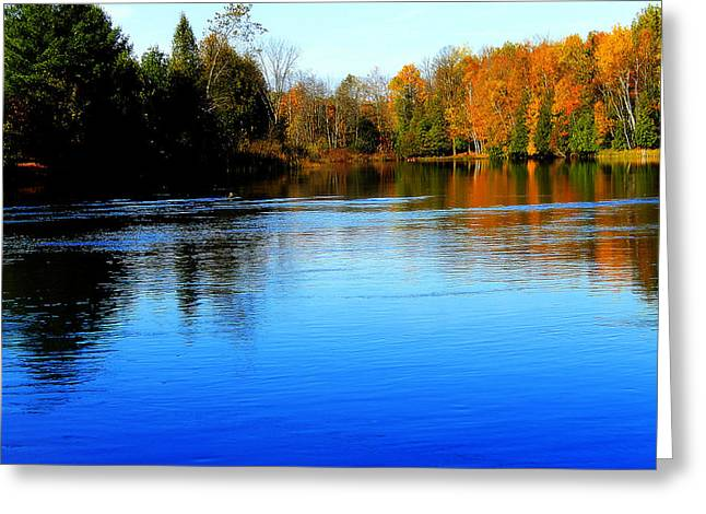 Autumn Greeting Cards - Blue Lake  Greeting Card by Scott Hovind