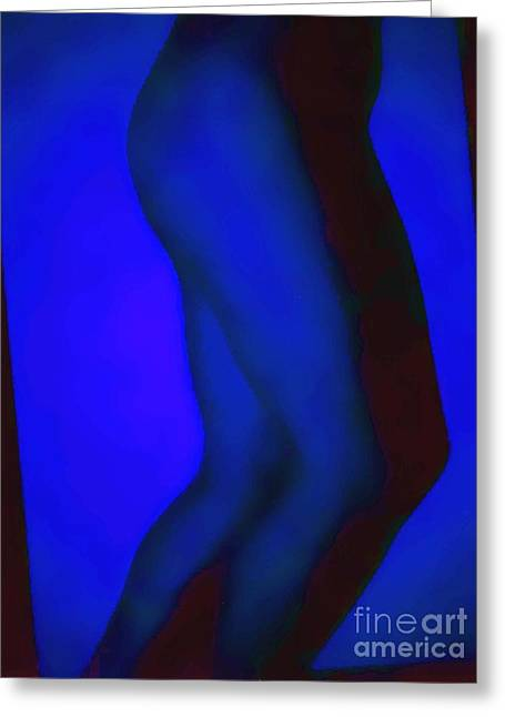 Blue Legs Greeting Card by J erik Leiff